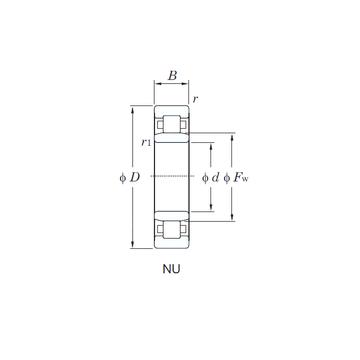 NU305 KOYO Cylindrical Roller Bearings #1 small image