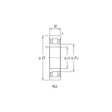 NJ311 KOYO Cylindrical Roller Bearings #1 small image