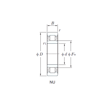 NU305 KOYO Cylindrical Roller Bearings #1 image